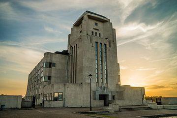 Radio Kootwijk bij zonsondergang van Roy Debets