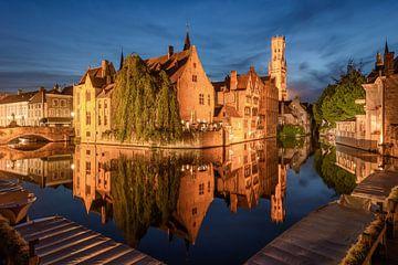 View from Rozenhoedkaai in Bruges, Belgium van