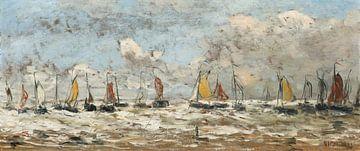 Vissersvloot voor de Nederlandse kust, Hendrik Willem Mesdag