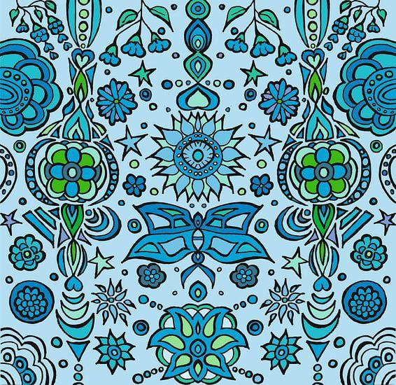 Blue Pattern XXL