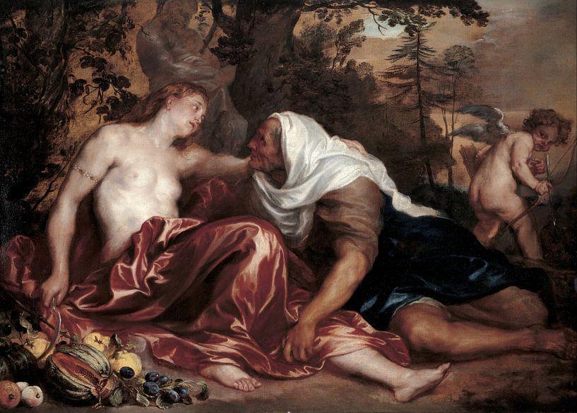 Vertumnus und Pomona, Anthony van Dyck von Meesterlijcke Meesters
