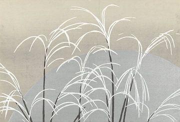 Mond und Gräser von Kamisaka Sekka, 1909