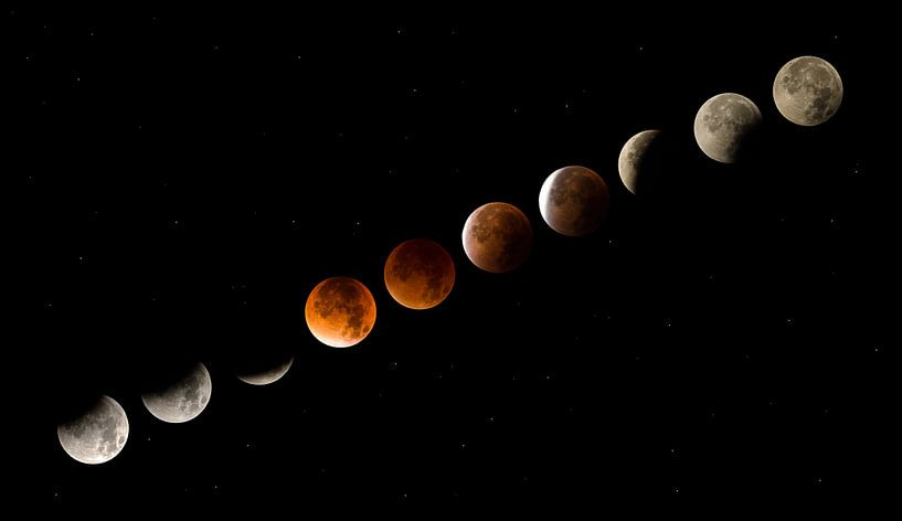 Mondfinsternis von Moor van Bree foto's