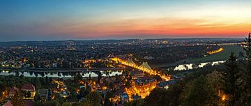 Blaues Wunder - Dresden Loschwitz bei Nacht