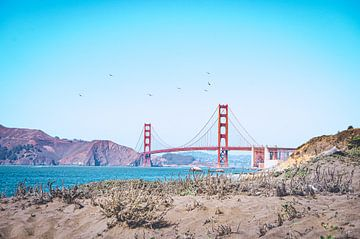 Baker Beach, San Francisco, Amerika von Daphne Groeneveld