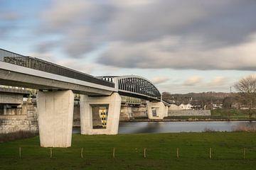 Fietsbrug De Maasover tussen Mook en Katwijk