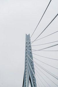 Nahaufnahme der Erasmusbrücke in Rotterdam von Michael Jansen
