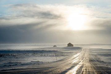 Stuga in het hoge noorden. van Marco Lodder
