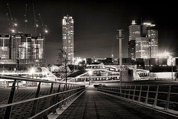 Kop van Zuid bij nacht von Vincent van Kooten