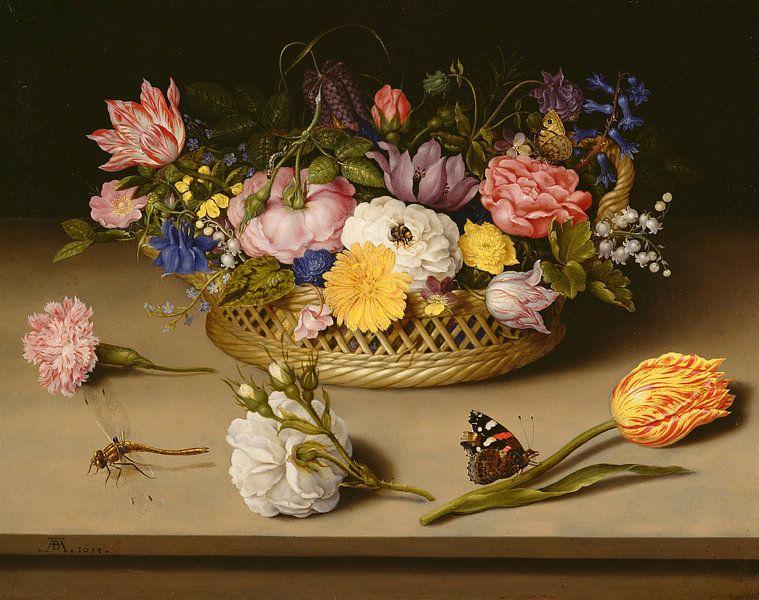 Ambrosius Bosschaert de Oude. Stilleven met bloemen van 1000 Schilderijen