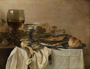 Stilleven met een vis, Pieter Claesz.