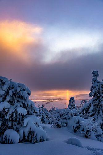 Traumhafter Sonnenaufgang im Erzgebirge