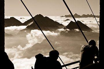 Mont-Blanc massief, Alpen von Stefan Wapstra