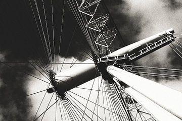 London Eye schwarz-weiß von Erik Juffermans