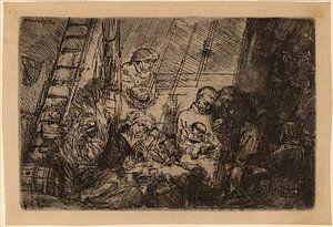 Rembrandt van Rijn  De besnijdenis in de stal