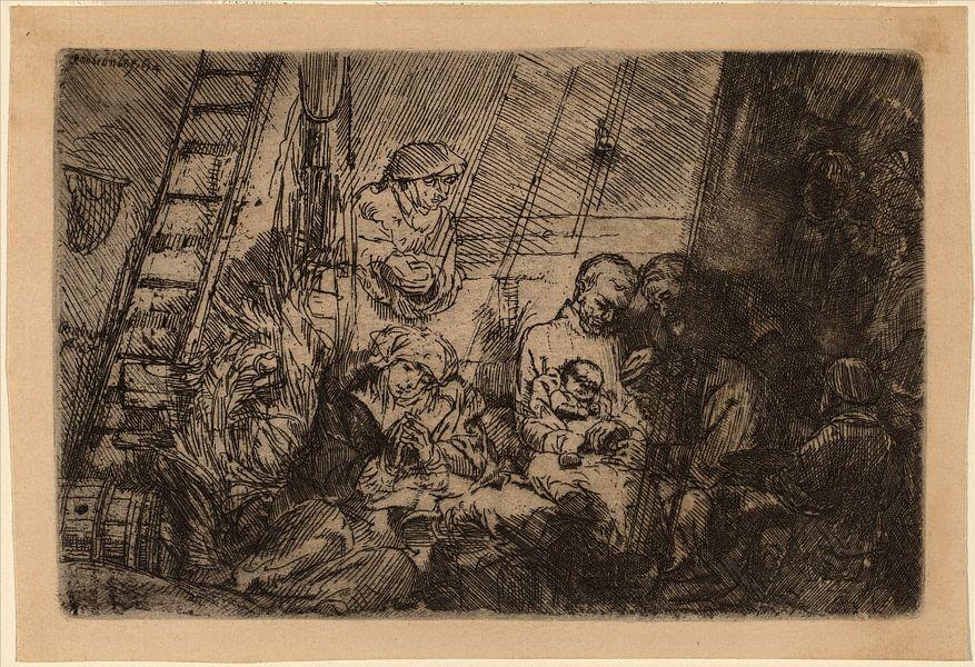 Rembrandt van Rijn  De besnijdenis in de stal van Rembrandt van Rijn