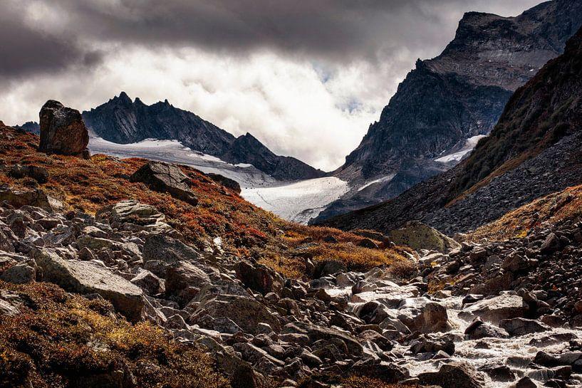 Silvretta gletsjer van Rob Boon
