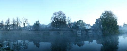 De Zuidwal in ochtendnevel van