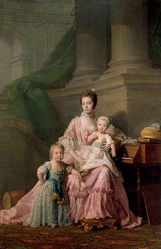 Koningin Charlotte, met haar Twee Oudste Zonen, Allan Ramsay... van