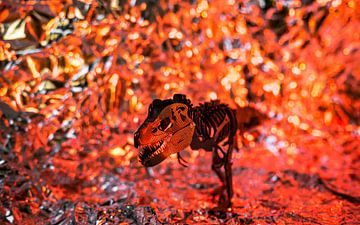 T-Rex in der Lava von