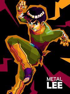 Anime Naruto in popart von miru arts