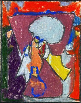 Gruppenfiguren Kunst, ADOLF HÖLZEL, Um 1925