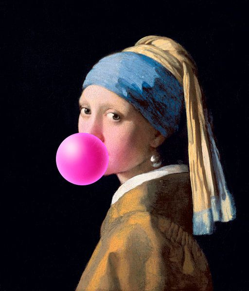 Meisje met de Parel Bubble Gum van Maarten Knops