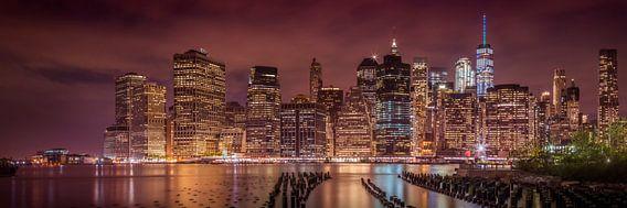 NEW YORK CITY Indruk nacht | Panorama van Melanie Viola