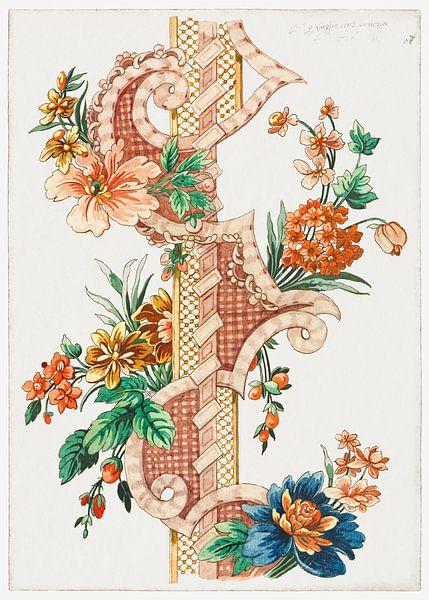 Vertikales dekoratives Blumenband, Giacomo Cavenezia von Meesterlijcke Meesters