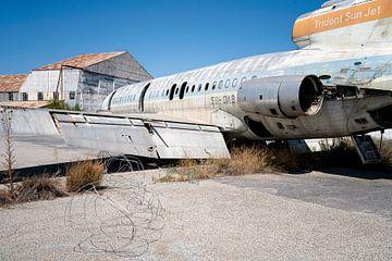 Verlaten Vliegtuig in Verval.