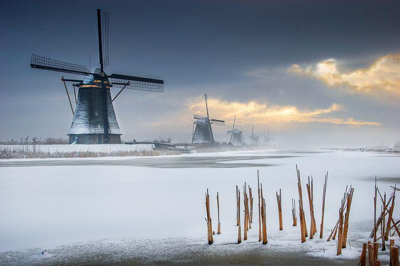 Windmolens Kinderdijk van Ruud Peters