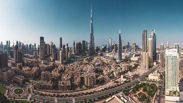 Panorama du centre ville de Dubaï sur Jean Claude Castor