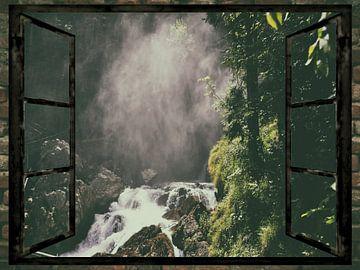 Met uitzicht op de waterval van Christine Nöhmeier
