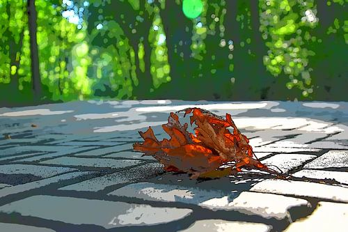 Bladeren in het Haagsche bos van