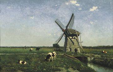 Landschaft mit Windmühle bei Schiedam, Johannes Hendrik Weissenbruch