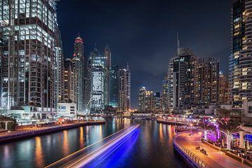 Dubai Marina Lichtstreifen von Stefan Schäfer