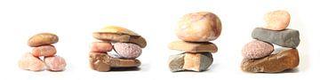 Pebbles, drieluik in vier delen von Wim Zoeteman