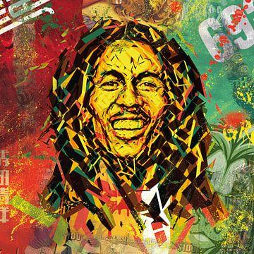 Bob Marley von Rene Ladenius Digital Art