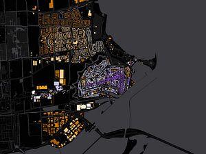 Kaart van Enkhuizen abstract van