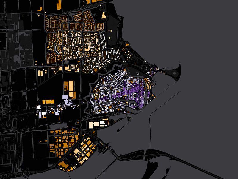 Kaart van Enkhuizen abstract van Stef Verdonk