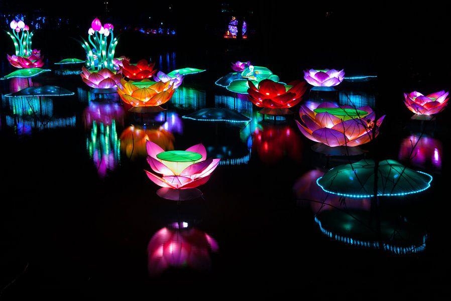 A Lightshow on the water van Brian Morgan