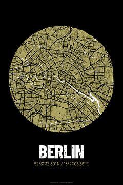 Berlijn - Stadsplattegrond ontwerp stadsplattegrond (Grunge)