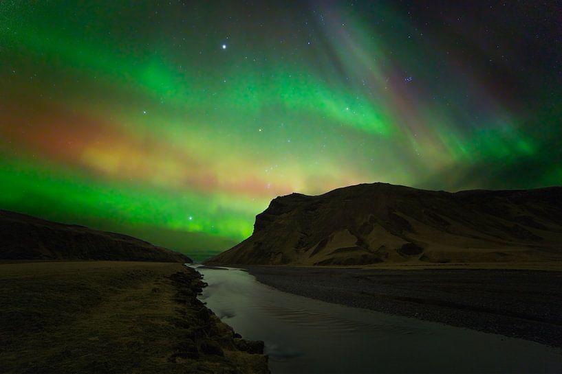 Northern Lights (aurores boréales) en Islande sur Anton de Zeeuw