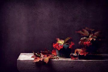 stilleven...herfsttafereeltje in oude stijl... van