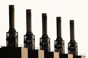 Industrieel landschap in Duisburg (7-13304) van Franz Walter