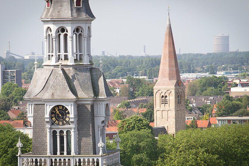 Laurentius kerk en hervormde kerk centrum Heemskerk van karen vleugel