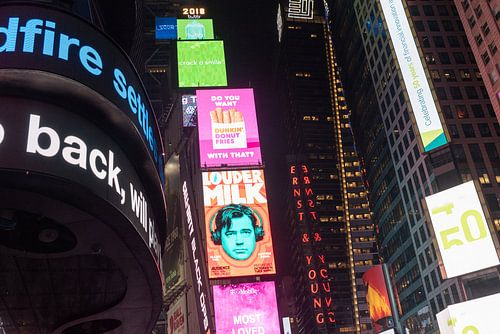 Times Square reclames Manhattan New york van Erik van 't Hof