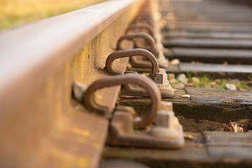 Close up van spoorweg van Michel Knikker
