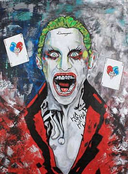 Joker Beschadigd van Kathleen Artist Fine Art
