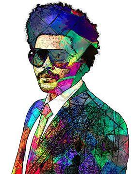 The Weeknd Abstraktes Porträt in verschiedenen Farben von Art By Dominic